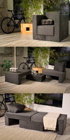 Sessel von FEYDOM mit tollen Funktionen und einzigartigen Design für zum Beispiel kleine Räume, Gästezimmer, Kinderzimmer oder auch stylische WG's.