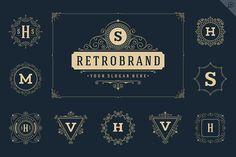 50 luxury ornaments logos & monogram by Vasya Kobelev on @creativemarket
