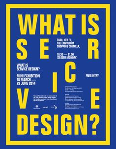 What is Service Design mini Exhibition @TCDC Resource Center Bangkok