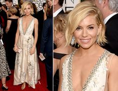 Sienna Miller attended the 2015 Golden Globe Awards on Sunday (January ...