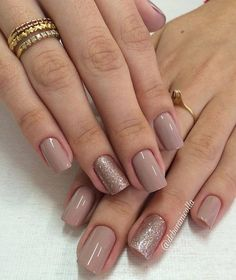 Find images and videos about nails, nail polish and manicure on We Heart It - the app to get lost in what you love. Neutral Nails, Nude Nails, My Nails, Beige Nails, How To Do Nails, Square Acrylic Nails, Acrylic Nail Designs, Shellac Designs, Gorgeous Nails