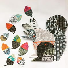 Clare Youngs is a designer-maker and paper craft collage artist, illustrator and author. Original art, giclee prints and articulated animals for sale or commission Paper Collage Art, Collage Artists, Paper Art, Paper Crafts, Art Clipart, Mythical Birds, Young Art, Paper Animals, Art Plastique