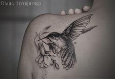 I love this, my grandma called me hummingbird when I was little | Diana Severinenko Tattoo