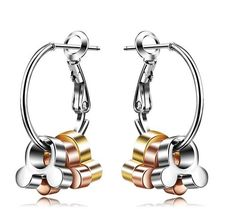 Disney Discovery- Tri Color Mickey Mouse Hoop Earrings