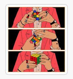 Harry Styles Rubik's Cube Sticker