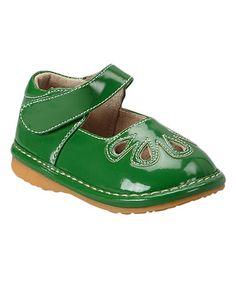 Look at this #zulilyfind! Green Patent Ella Squeaker Mary Jane #zulilyfinds
