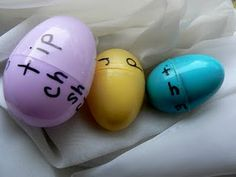 Easter Egg Words - Rhyming, Word Families, or Articulation Tx.  Love this Holiday Idea.