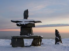 After learning some history at Fort Prince of Whales I would head back in town to see the Inukshuk statue which serves as a symbol of hope, friendship, and safety. The Inukshuk is conveniently on the way to the  Eskimo museum.