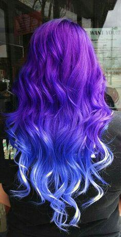 Purple blu ombré