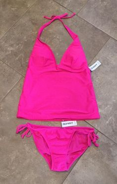 Ladies OLD NAVY Tankini Swimsuit, size Small S - HOT PINK Brand New with Tags #OldNavy #Tankini