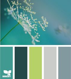color nature - design seeds I just love the color palette Design Seeds, Teal Green Color, Red Colour, Blue Green, Bright Green, Lime Green Decor, Green Decoration, Colour Match, Color Tones