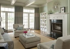 Living room of Allison residence, designed by Bear-Hill Interiors