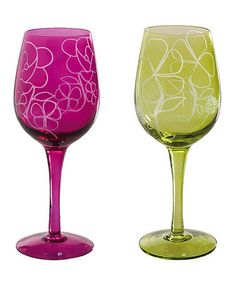 Take a look at this Floral Spice Wine Glass Set by Cypress Home on #zulily today!
