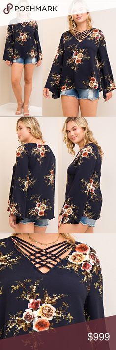 PLUS SIZED FLORAL BLOUSE COMING SOON❣️ LIKE THIS LISTING TO BE NOTIFIED UPON ARRIVAL. Tops Blouses
