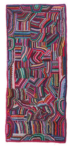 Glendi's Abstract Hooked Rug - Cultural Cloth Store