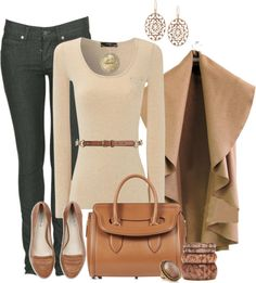A fashion look from December 2012 featuring long sleeve shirts, super skinny jeans and leather flats. Browse and shop related looks. Simple Outfits, Classy Outfits, Casual Outfits, Fall Winter Outfits, Autumn Winter Fashion, Winter Wear, Outfit Invierno, Winter Stil, Love Clothing