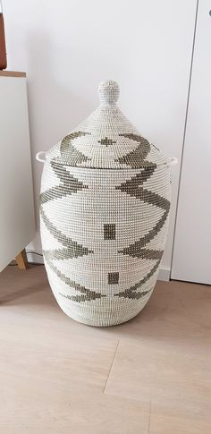 Laundry Basket African Style Ethnic handmade home decor Functional Art Cesto Wäschekorb