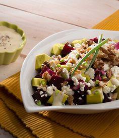 Beet, Avocado, Queso Fresco & Walnut Salad | Avocados from Mexico