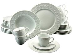 Silvia 30 Piece Dinnerware Set, Service for 6 Creatable Breakfast Plate, Breakfast Set, China Dinnerware Sets, Soup Plating, Fruit Plate, Cereal Bowls, China Porcelain, Dinner Plates, Stoneware