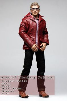 Zip Up Bomber Jacket Coat for 1//6 Scale 12inch  Action Figure Model