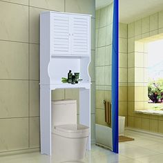over toilet cabinet with 1 shelf and 1 cupboard (2 doors) is a great addition to your exiting bathroom. You can store your bathroom essentials and keep your bathroom tidy and clean. This clever design enables even small bathroom to gain extra storage space. It surely will be the functional piece... more details available at https://furniture.bestselleroutlets.com/bathroom-furniture/over-the-toilet-storage/product-review-for-new-mtn-g-over-toilet-cabinet-tall-storage-unit-spac