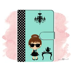 Planner binder A6/personal Audrey Breakfast at Tiffany at TanyaBrittany shop