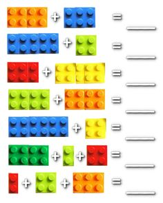 Lego Math Worksheets  Could do double-digit like dice game.