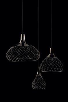 LED iron pendant lamp By Linea Light Group Led Pendant Lights, Pendant Chandelier, Pendant Lighting, Dining Room Light Fixtures, Dining Room Lighting, Rustic Lighting, Dramatic Lighting, Italian Lighting, Home Room Design