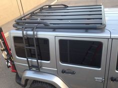 Jeep Wrangler Accessories Discover Wrangler JKU Roof Rack w/ Rhino Rack Pioneer Platform Long or Short Roof Rack / Short Platform Installed Wrangler Jeep, Jeep Wrangler Unlimited, Jeep Wrangler Interior, Jeep Jku, Volkswagen Routan, Volkswagen Phaeton, Jeep Camping, Motorcycle Camping, Scrambler Motorcycle