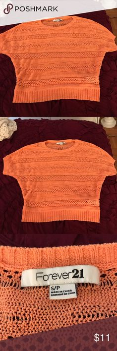 Coral Summer Sweater Perfect to wear over a bathing suit or with a light cami underneath! Forever 21 Tops Sweatshirts & Hoodies