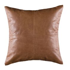 Azrah Traders Lambskin Leather Pillow Cover - Sofa Cushion Case - Decorative Throw Covers for Living Room & Bedroom - Inches - Tan Pack of 2