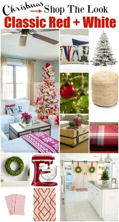 Our Red + White Christmas - Shop the Look