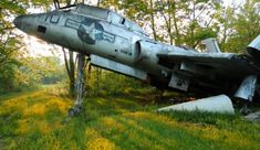 In northeast Ohio, there's a sizable collection of vintage aircraft rotting away in an overgrown meadow. Description from telstarlogistics.typepad.com. I searched for this on bing.com/images