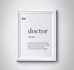 Doctor Definition Gift For Doctor Office Decor Medical Gifts Medicine Quotes Scandinavian Typography Dictionary Wall Art Hospital Wall Decor - Medical memes Doctors Office Decor, Doctor Office, Medical Office Decor, Tafsir Coran, Nurses Week Quotes, Medicine Quotes, Medical Wallpaper, Medical Gifts, Medical Jokes