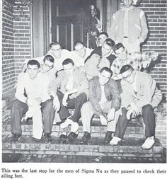 Sigma Nu fraternity brothers 1955. From the 1956 Oregana (University of Oregon yearbook). www.CampusAttic.com