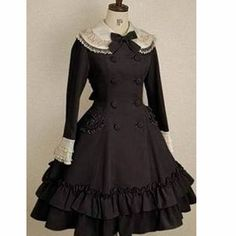 Women Pink Wool Double Breasted Lolita Princess Dress Cape Trench ...