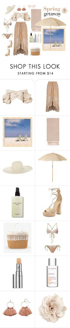 """""""Spring Getaway 🌴"""" by jbeb ❤ liked on Polyvore featuring Johanna Ortiz, River Island, Turkish-T, Jennifer Ouellette, Bobbi Brown Cosmetics, Stuart Weitzman, White House Black Market, Suboo, Chantecaille and Clarins"""