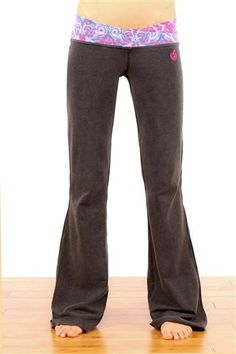 40dce21086 33 Flow Fitted Womens Flare Yoga Pants With Vintage Wash in Black w/ Rose by