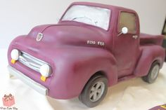 Ford 150 Birthday cake for Lou's 50th!  #classic #car #cake #ford