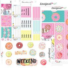 Donut planner sticker kit  erin condren planner stickers kit   happy planner sticker kit  planner sticker weekly kit   sticker set  SK006
