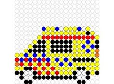 Kralenplank Ambulance 1 Beaded Flowers Patterns, Hama Beads Patterns, Beading Patterns, Crafts To Sell, Crafts For Kids, Dot Day, Diy Perler Beads, Cardboard Crafts, Create And Craft