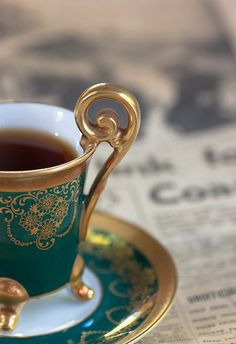 Tea... A nice photo encouraging you to sit and savor a few moments of alone time.