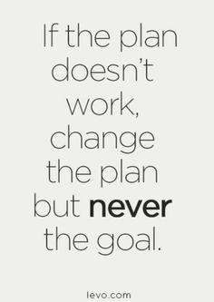 Eğer planın işe yaramıyorsa, o zaman planını değiştir. Hedefini hiç bir zaman değiştirme.