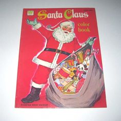 1970's coloring books | Vintage 1960s or 1970s Santa Claus Coloring Book for Children Unused ...