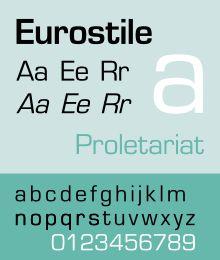 Image result for eurostile typeface