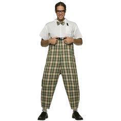 Nerd kostuum met hoge broek. Grappig kostuum om als nerd verkleed te gaan! Een hoge broek met ruitjes en een witte blouse. Het strikje is inclusief. One size, M/L. Carnavalskleding 2015 #carnaval
