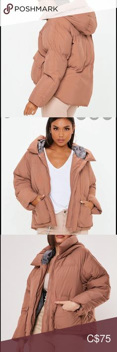 Missguided mocha over sized puffer jacket Oversized style puffer jacket Size 4 or size Brand New condition only worn handful of times Very cute and super warm comfy jacket Selling as the colour just doesn't suit me Jackets & Coats Puffers Puffer Jackets, Winter Jackets, Canada Goose Parka, Kids C, Packable Jacket, Plus Fashion, Fashion Tips, Fashion Trends, Missguided