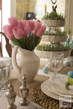 EASTER TABLESCAPES | Easter Tablescape at Me and My DIY