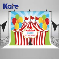 Carnival Circus Colorful Balloon Photography Backdrops Newborn