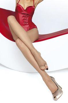 Fiore Eveline Open Toe TOELESS 15 denier summer sheer tights - natural, black #Fiore #Everyday